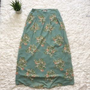 F21 long lined maxi skirt